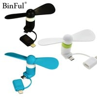 2 in 1 Portable Micro USB Fan For iPhone Android Smartphones Gadget