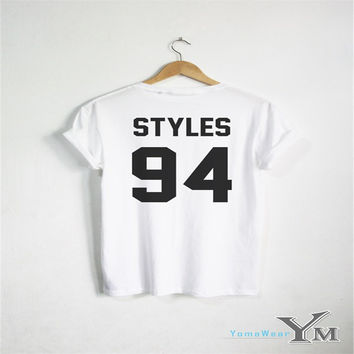 Harry Styles 94 T Shirt Tumblr One Direction 1D T-shirt Funny Music Tour Top Men Women Usisex Tshirts S-XXXL