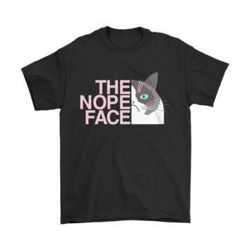 KUYOU The Nope Face Grumpy Cat Funny Shirts