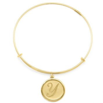 Alex and Ani Precious Initial Y Charm Bangle - 14kt Gold Filled