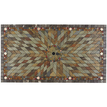 Verazze Slate Mosaic Rectangle Table Top