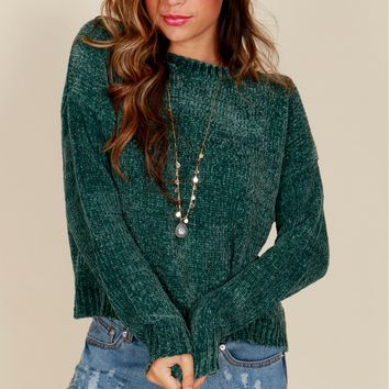 Everyday Classic Sweater Forest Green