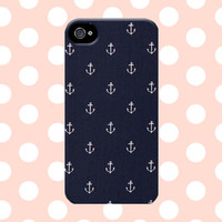 Rustic Nautical Blue and White iPhone 4 4s 5 5s 5c Case