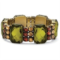 Lillith Star Goldtone Lucite Stretch Bracelet