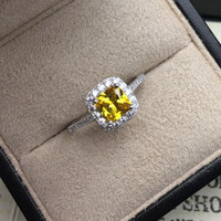 Gift Shiny Jewelry New Arrival Stylish Classics Princess 925 Silver Elegant Ring [4989658308]