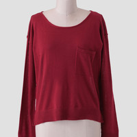 Through The Redwoods Button Sweater