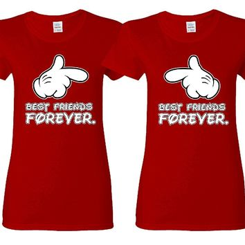 Best Friends Forever Hands Girl BFFS T-shirts