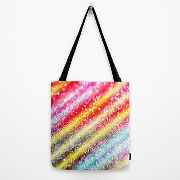 glitter stripes Tote Bag by Haroulita