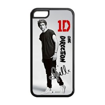 Niall Horan-One Direction Apple iPhone 5C Case, diy & customized Popular Music Band One Direction - Niall Horan Signed Poster iPhone 5C Black Plastic and Silicone Protective Case Cover, Personalized, Cool, Stylish and Fashion Phone Case at Private-custom