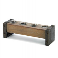 Medieval Wooden Tealight Candle Holder