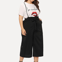 Pocket Side Pinafore Pants