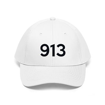 Kentucky 913 Area Code Embroidered Twill Hat BLACK