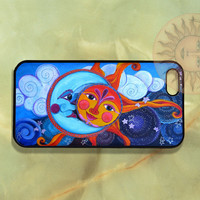 Sun and Moon iPhone 5, 5s, 4s, 4, Samsung GS5, GS4, GS3 case, Ipod touch 4 and 5 case-Silicone Rubber / Hard Plastic Case, Phone cover