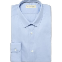Burberry London Blue Slim-Fit Cotton Shirt | MR PORTER