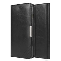 iPhone 6 Plus Case, [Luxury Series] Stand Feature Folio Cover, iPhone 6 Plus Leather Wallet Case with Magnetic Closure Soft Flip Case For iPhone6 Plus (5.5inch) (MM543) (Black)