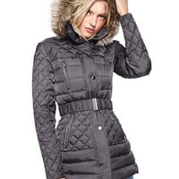 Quilted Faux-fur Trim Puffer - Victoria's Secret