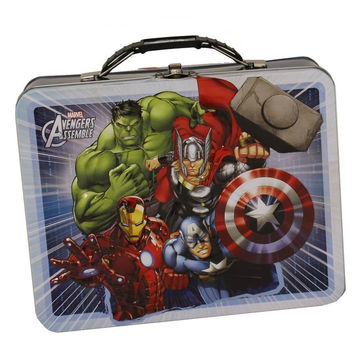Avengers White Tin Lunch Box