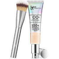 IT Cosmetics Full Coverage Physical SPF 50 CC Cream with Plush Brush - A264626 — QVC.com