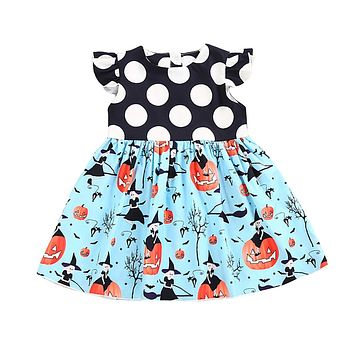 Toddler Baby Girls Dress Halloween Princess Party Pageant Dresses Sleeveless Cute Kids Clothes