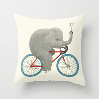 Ride (colour option) Throw Pillow by Eric Fan