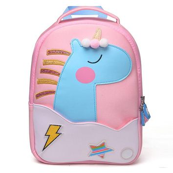 2018 New Fashion Unicorn School Bags for Girls Boy Cute Animals Design Children's backpack Student Kids Bag Gift Mochila Escolar