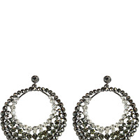 Faceted Bead Circular Earrings in Gradient – bandbcouture.com