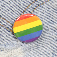 Pride Flag 1.25 Inch Pin Back Button Badge