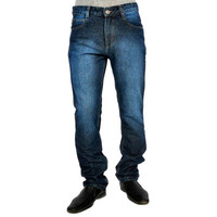 Uber Urban Mens Non Stretch 100 Cotton S20 Regular Fit Blue Jeans