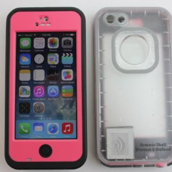 iPhone 5c Waterproof Case Clear Back Cell Phone Awesome Protective Covers & Accessories Offers Alternative to Lifeproof Defender & Otterbox Cases, for Apple AT&T, Verizon Wireless, Virgin & Sprint Phones. Buy Now to Protect & Defend Your Investment!