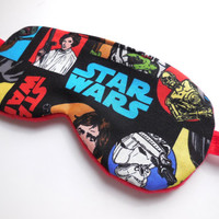 Star Wars Sleep Eye Mask for Her, Starwars Eyemask, Princess Leia Sleepmask, Women Teen Girls, Night Blindfold Satin Cotton Fleece Flannel