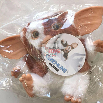 "Gizmo Mogwai Neca Gremlins 5"" Inch LIMITED PLUSH Figure Sealed BAG"