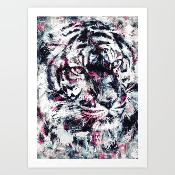 TIGER IV Art Print by RIZA PEKER