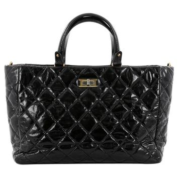 Chanel Rita Tote Quilted Glazed Crackled Calfskin Small