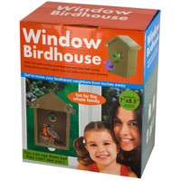 Window Birdhouse With Clear Panel & Suction Cups