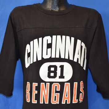 80s Cincinnati Bengals #81 NFL Football Jersey t-shirt Medium