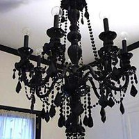 7 LIGHT LARGE 37 1/2 INCH JET BLACK CRYSTAL CHANDELIER | eBay