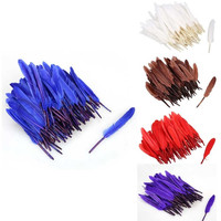 Cool Gifts 100PCS Nature Goose Feathers Wedding Birthday Party Gorgeous Decoration