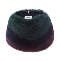 Striped Fox Neck Muff by Thom Browne - Moda Operandi
