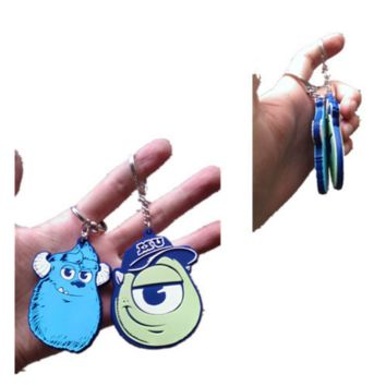 Monsters University Mike and Sulley Keychain Figurine