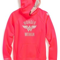 Girl's Under Armour 'Superhero' Hooded Sweatshirt