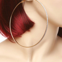 Large Shimmer Hoop Earrings