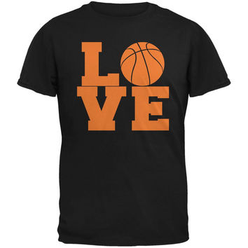 Basketball Love Black Adult T-Shirt