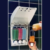 Better Living Products Classic Four Chamber Shower Dispenser, White,58 oz