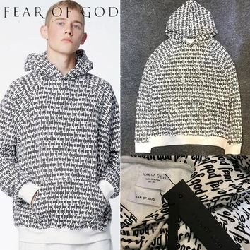 Fear Of God Hoodies 2017 New Purpose Tour Kanye West Men Women 1:1 High Quality Justin Bieber Hoodie Fear Of God FOG Sweatshirts