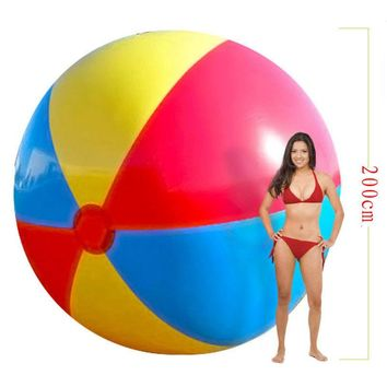 200cm Super Large Charm Colorful Inflatable Beach Ball Outdoor Play Games Balloon Giant Volleyball PVC Pool & Accessorie