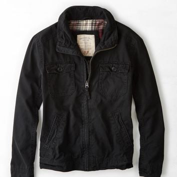 AEO Vintage Workwear Jacket, True Black | American Eagle Outfitters