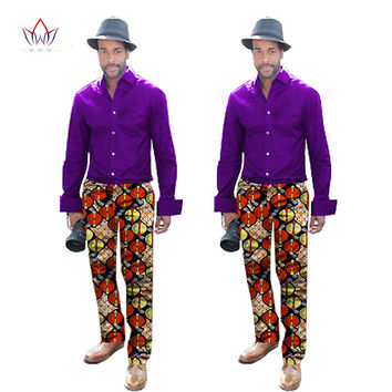 2017 New Arrival Mens African Clothes Casual Men Pants Dashiki Print Designer Elegant Male Leisure Long Trousers 6XL BRW WYN291
