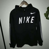 LMFUF3 Nike Fashion Casual Long Sleeve Sweater Pullover Hoodie Sweatshirt Black G-A-HRWM