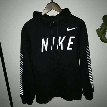 VXL8HQ Nike Fashion Casual Long Sleeve Sweater Pullover Hoodie Sweatshirt Black G-A-HRWM