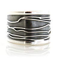 "Sterling Silver Rings | ""Black & White"" 